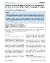 Plos One : Titanium Dioxide Nanoparticle... by Rozhkova, Elena A.