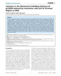 Plos One : Variation in the Mechanical U... by Gasset, Maria