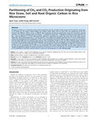 Plos One : Partitioning of Ch4 and Co2 P... by Treseder, Kathleen