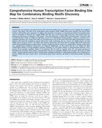 Plos One : Comprehensive Human Transcrip... by Provart, Nicholas, James