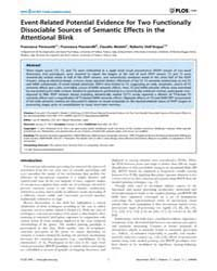 Plos One : Event-related Potential Evide... by Martinez, Luis M.