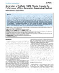 Plos One : Generation of Artificial Fast... by Badger, Jonathan H.