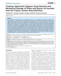 Plos One : Tracking Taphonomic Regimes U... by Butler, Richard J.