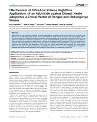 Plos One : Effectiveness of Ultra-low Vo... by Shiff, Clive
