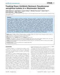 Plos One : Tracking Down Antibiotic-resi... by Rohde, Holger