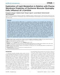Plos One : Exploration of Lipid Metaboli... by Dzeja, Petras
