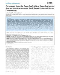 Plos One : Conquered from the Deep Sea a... by Cordaux, Richard