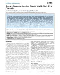 Plos One : Sigma-1 Receptor Agonists Dir... by Obukhov, Alexander, G.