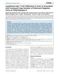 Plos One : Lymphoma-like T Cell Infiltra... by Waisman, Ari