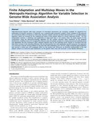 Plos One : Finite Adaptation and Multist... by Emmert-streib, Frank