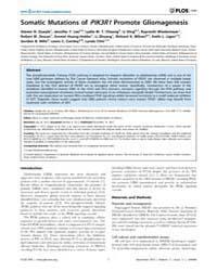 Plos One : Somatic Mutations of Pik3R1Pr... by Castro, Maria, G.