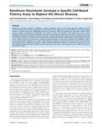 Plos One : Botulinum Neurotoxin Serotype... by Salinas, Sara