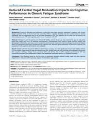 Plos One : Reduced Cardiac Vagal Modulat... by Laks, Jerson