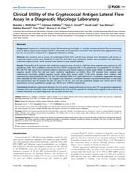 Plos One : Clinical Utility of the Crypt... by Heimesaat, Markus, M.