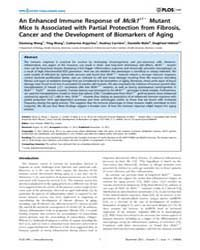 Plos One : an Enhanced Immune Response o... by Herault, Yann