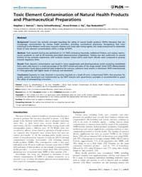 Plos One : Toxic Element Contamination o... by Sem, Daniel, S.