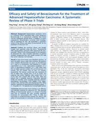 Plos One : Efficacy and Safety of Bevaci... by Zi, Xiaolin