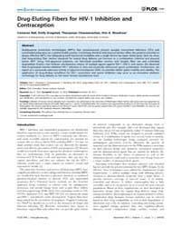 Plos One : Drug-eluting Fibers for Hiv-1... by Tachedjian, Gilda