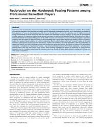 Plos One : Reciprocity on the Hardwood ;... by Sánchez, Angel