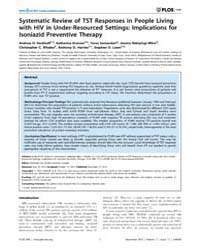 Plos One : Systematic Review of Tst Resp... by Pai, Madhukar