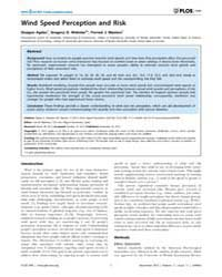 Plos One : Wind Speed Perception and Ris... by Martinez, Luis, M.