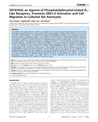 Plos One : Skf83959, an Agonist of Phosp... by Mongin, Alexander, A.