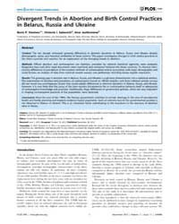 Plos One : Divergent Trends in Abortion ... by Baradaran, Hamid, Reza