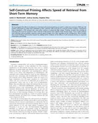 Plos One : Self-construal Priming Affect... by Martinez, Luis, M.