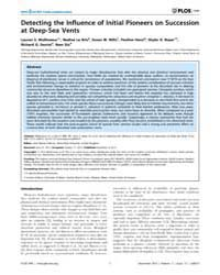Plos One : Detecting the Influence of In... by Roberts, John, Murray