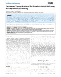 Plos One : Parameter Tuning Patterns for... by Adesso, Gerardo