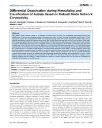 Plos One : Differential Deactivation Dur... by Zang, Yu-feng