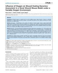 Plos One : Influence of Oxygen on Wound ... by Brandner, Johanna, M.