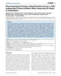 Plos One : Pharmacological Estrogen Admi... by He, Bin
