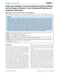 Plos One : Early Lens Ablation Causes Dr... by Roehl, Henry, H.