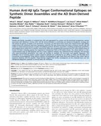 Plos One : Human Anti-ab Iggs Target Con... by Yang, Yanmin