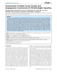 Plos One : Toxicarioside a Inhibits Tumo... by Fields, Alan, P.