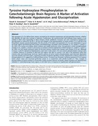 Plos One : Tyrosine Hydroxylase Phosphor... by Tache, Yvette
