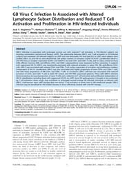 Plos One : Gb Virus C Infection is Assoc... by Apetrei, Cristian