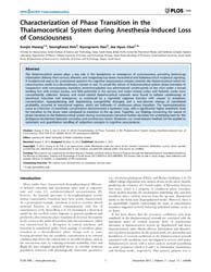 Plos One : Characterization of Phase Tra... by Ward, Lawrence, M.