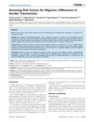 Plos One : Assessing Risk Factors for Mi... by Forloni, Gianluigi