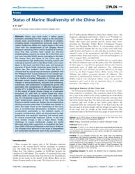 Plos One : Status of Marine Biodiversity... by Archambault, Philippe