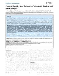 Plos One : Physical Activity and Asthma ... by Hernandez, Adrian, V.