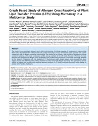 Plos One : Graph Based Study of Allergen... by Stumbles, Phillip, A.