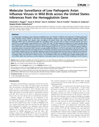 Plos One : Molecular Surveillance of Low... by Fouchier, Ron, A. M.