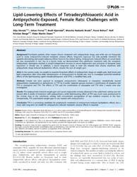 Plos One : Lipid-lowering Effects of Tet... by López, Miguel