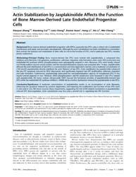 Plos One : Actin Stabilization by Jaspla... by Gadeau, Alain-pierre