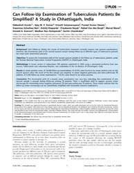 Plos One : Can Follow-up Examination of ... by Nunes, Monica, Da Silva