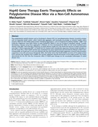 Plos One : Hsp40 Gene Therapy Exerts The... by Okazawa, Hitoshi