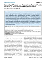 Plos One : Fecundity of Paternal and Mat... by Novelli, Giuseppe