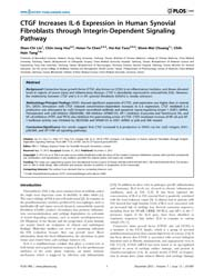 Plos One : Ctgf Increases Il-6 Expressio... by Tsilibary, Effie, C.
